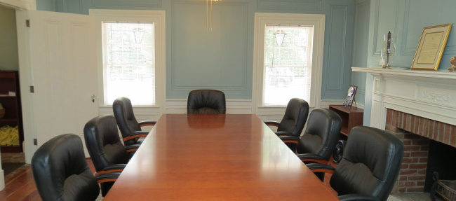 AFTER: The room is now ready to host a meeting.