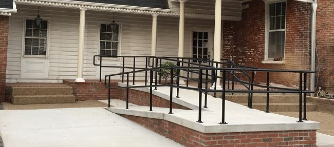 AFTER: The completed handicap accessible ramp.